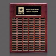 Traditional Plaques - Oakleigh Vert Pert/Plaque - Rosewood/Gold 90 Plate