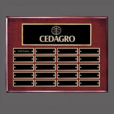 Traditional Plaques - Oakleigh Horiz Pert/Plaque - Rosewood/Gold with Plates