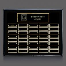 Traditional Plaques - Oakleigh Horiz Pert/Plaque - Black/Gold 40 Plate