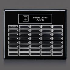 Traditional Plaques - Oakleigh Horiz Pert/Plaque - Black/Silver 40 Plate