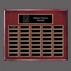 Traditional Plaques - Oakleigh Horiz Pert/Plaque - Rosewood/Gold 40 Plate