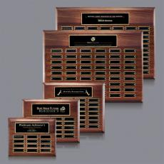 Traditional Plaques - Sedgewick Perpetual Plaque - Walnut with Plates