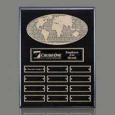 Traditional Plaques - World Perpetual Plaque (Vert) - Black with Plates