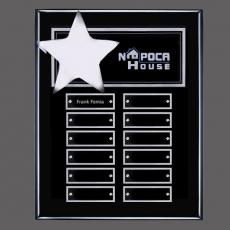 Traditional Plaques - Hollister (Vert) P/Plaque - Black/Silver with Plates