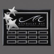 Custom Engraved Wall Plaques - Constellation P/Plaq - Black/Chrome with Plates
