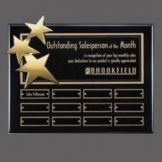 Custom Engraved Wall Plaques - Constellation P/Plaq - Black/Gold with Plates