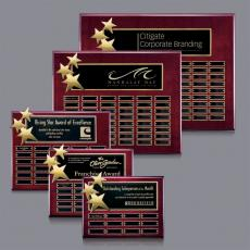 Custom Engraved Wall Plaques - Constellation P/Plaq - Rosewood/Gold with Plates