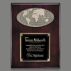 Customizable Plaque Awards - World Plaque