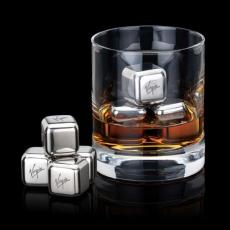 Executive Gifts - Stainless Steel Ice Cubes - Set of 4