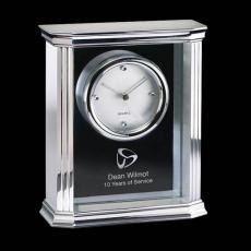 Clock Awards - Thornbury Mantle Clock - Alum/Glass