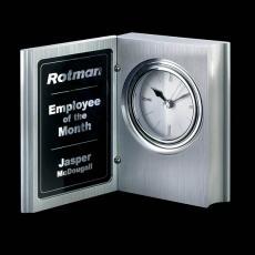 "Clock Awards - Dodsworth Book Clock - Alumunim 4"""