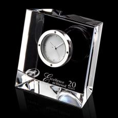 Personalized Corporate Gifts - Genoa Clock - Optical 3-1/8""