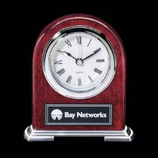 Metal Awards - Birmingham Clock - Rosewood/Chrome