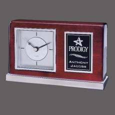Metal Awards - Lincoln Clock - Rosewood/Chrome