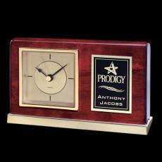 Clock Awards - Lincoln Clock - Rosewood/Gold