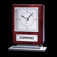 Clock Awards - Falkland Clock - Rosewood/Chrome