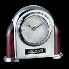 Clock Awards - Newtonbrook Clock - Aluminum/Rosewood
