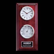 Clock Awards - Simmons Clock/Thermo - Rosewood/Chrome