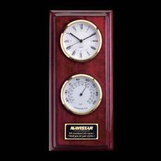 Clock Awards - Simmons Clock/Thermo - Rosewood/Gold
