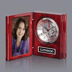 Clock Awards - Sanibel Clock - Rosewood/Chrome