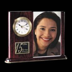 Clock Awards - Webster Clock/Frame - Rosewood