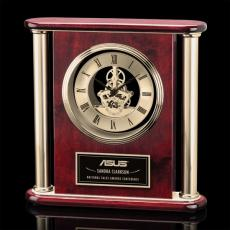 Clock Awards - Orwell Clock - Rosewood/Gold 11""