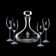 Barware - Stratford Decanter & 4 Wine