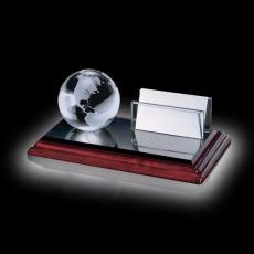 Desk Accessories - Business Card Holder - Globe on Albion