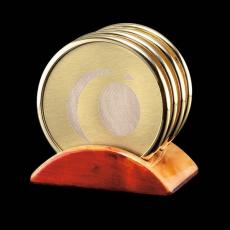 Desk Accessories - Wainwright Coasters - Set 4 Gold (Laser)