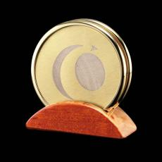 Desk Accessories - Wainwright Coasters - Set of 2 Gold (Laser)