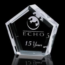 Custom-Engraved Crystal Awards - Genosee Award - Optical 3""