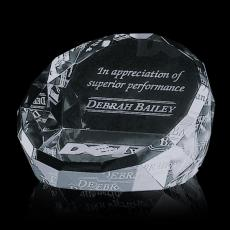 Custom-Engraved Crystal Awards - Chiltern Paperweight - Optical 3""
