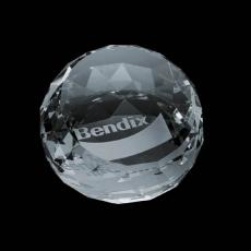 Custom-Engraved Crystal Awards - Driscoll Paperweight - Optical 3""