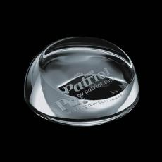 Custom-Engraved Crystal Awards - Slanted Paperweight - Optical 3""