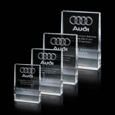 Custom-Engraved Crystal Awards - Miranda Award - Optical