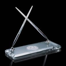 Desk Accessories - Ashburton Double Pen Set - Chrome