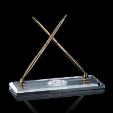 Desk Accessories - Ashburton Double Pen Set - Gold