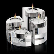 Candle Holders - Saks Candleholders - Optical Set of 4