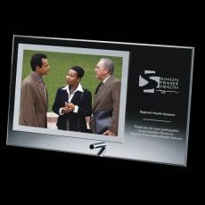 Personalized Corporate Gifts - Delaware Frame - Silver Horiz