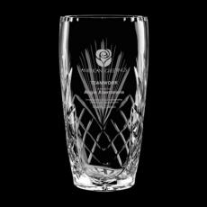 Custom-Engraved Crystal Awards - Mulholland Vase - 24% Lead Crystal