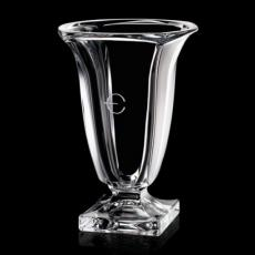 Custom-Engraved Crystal Awards - Galina Vase - Crystalline