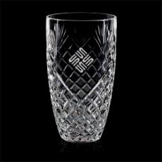 Custom-Engraved Crystal Awards - Taunton Vase - Lead Crystal