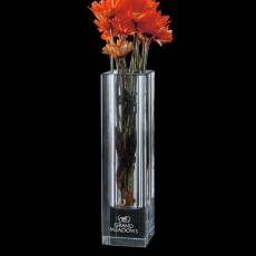 Custom-Engraved Crystal Awards - Bellaire Vase - Optical