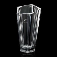 Custom-Engraved Crystal Awards - Issoria Vase - Crystalline 11""