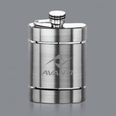 Executive Gifts - Larsson Hip Flask - Stainless Steel