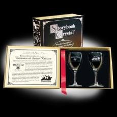 Wine Glasses - Storybook Classic Black - 2 Wine