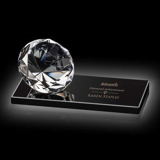 Diamond on Black Base