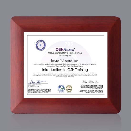 Boise Certificate Holder