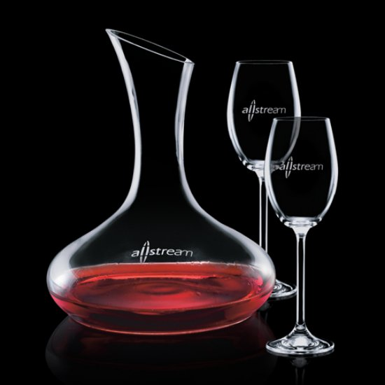 Cimarron Carafe  & Choice of Wine Glasses