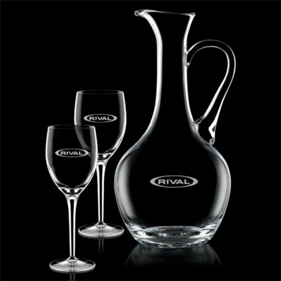 Deane Carafe  & Choice of Wine Glasses